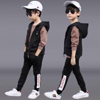 男童秋装套装新款男孩运动帅气三件套