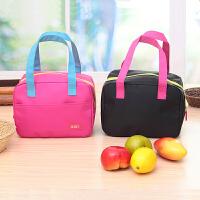手提包带午餐便当包 加厚保温饭盒袋 时尚保鲜包小拎包奶瓶包 玫红色