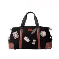 新款旅行包男欧美时尚手提包单肩帆布包大容量行李包 潮 支持礼品卡支付