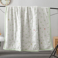 家纺水洗棉夏被简约空调被斜纹夏凉被绗缝卡通床上用品Y 110*150