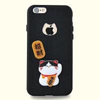 苹果6S浮雕猫手机壳iPhone6S软壳硅胶苹果6s保护壳 千万两(6和6S通黑4.7寸)