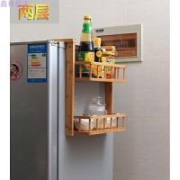 冰箱侧壁挂架厨房置物架调味架收纳架卫浴收纳架储物架整理架 碳化