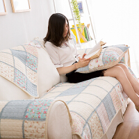 全棉拼布沙发垫田园布艺防滑皮沙发套罩时尚飘窗垫纯棉沙发巾坐垫