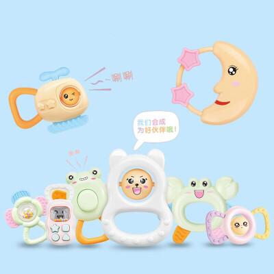 婴幼儿玩具 多功能卡通摇铃玩具宝宝儿童早教益智礼盒装生日礼物 .