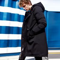 [2.5折价274.8元]唐狮冬装新款羽绒服男中长款连帽韩版简约青年冬季保暖外套潮