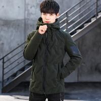 新款冬季男士羽绒服短款纯色韩版修身青年潮流白鸭绒连帽外套