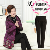 中老年女装冬装棉衣50-60岁宽松妈妈装中长款羽绒老人厚外套
