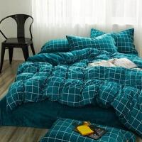 床上用品宿舍一米二一米五四件套学生单人被套床单冬季法兰绒棉