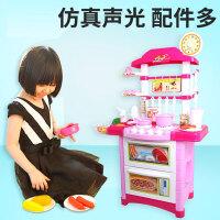 儿童过家家玩具女孩过家家厨房做饭娃娃宝宝仿真厨具套装大号