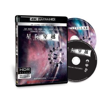 UHD 4K 蓝光碟 星际穿越 奥斯卡科幻BD超清高清电影光碟片中英语 星际穿越 奥斯卡科幻