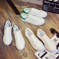 匡王2017秋季韩版透气小白鞋学生平底鞋白色板鞋系带女鞋休闲鞋单鞋运动鞋