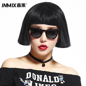 inmix音米 太阳镜欧美时尚男女方框墨镜可配近视 5052