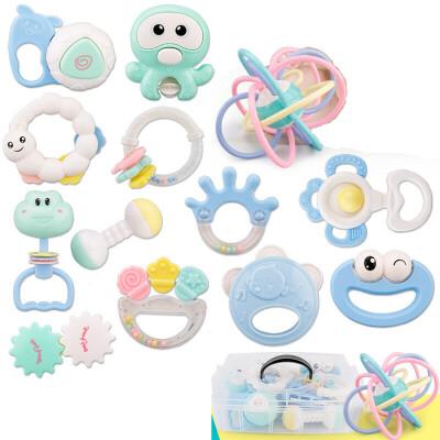婴儿摇铃玩具3-6-12个月新生儿宝宝益智早教幼儿手抓球牙胶0-1岁