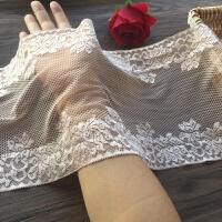 深肤色精美加宽弹力刺绣蕾丝花边辅料裙子抹胸手工辅料一米 深肤色