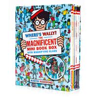 威利在哪里盒装 Where's Wally? The Magnificent Mini Book Box英文原版绘本