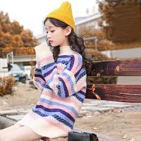 女童毛衣冬装洋气套头儿童秋冬中大童针织打底衫