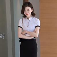 短袖白衬衫女2020新款夏季翻领衬衣简约棉料显瘦衬衣销售半袖