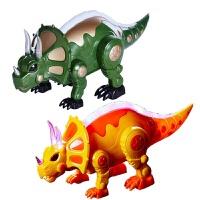 电动遥控恐龙玩具 三角龙仿真恐龙模型 儿童玩具子交流互动玩具