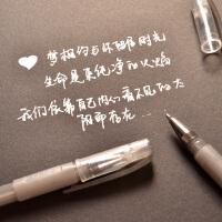 韩国DIY手工相册相簿水粉笔黑卡手工影集相册配件超显银色抖音 超显银色笔