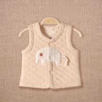 童装冬季新品儿童马甲 毛绒卡通图案天然彩棉开衫宝宝马甲夹棉保暖