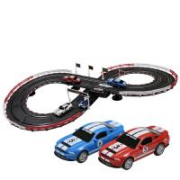 儿童玩具跑车赛道套装双人路轨道赛车电动手摇遥控汽车玩具
