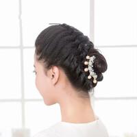 饰品头饰 仿珍珠精美花朵发梳 盘发插梳四齿梳U型夹 支持礼品卡支付