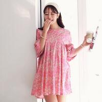 慈颜 韩版孕妇装春夏装 粉红天空孕妇连衣裙 孕妇裙WML1404