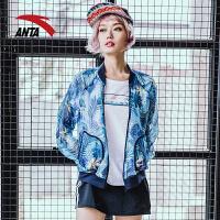 安踏女装外套 2018夏季新款女子单夹克运动服休闲薄上衣16828640