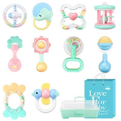 婴儿玩具摇铃牙胶手摇铃宝宝新初生婴幼儿0-3-6个月1岁男女孩