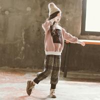 女童套装秋冬装洋气时髦中大童装两件套潮