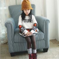 亲子装母女韩国童装秋冬新款韩版女童卡通加厚宽松儿童毛衣