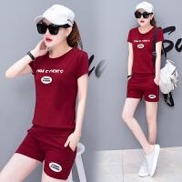 运动套装女夏季2018新款韩版时尚跑步学生宽松短袖短裤休闲两件套