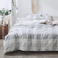 家纺北欧简约风全棉4四件套床上用品纯棉床单被套学生寝室三件套
