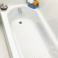 浴室防滑垫淋浴地垫洗澡浴缸垫卫生间带吸盘无味防水孕妇儿童脚垫 乳白色