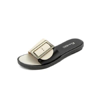 O'SHELL法国欧希尔新品113-T3319韩版塑胶平底女士凉拖鞋法国欧希尔女士凉拖鞋