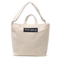 韩国百搭帆布包女包大单肩包手提包简约斜挎包文艺女式包袋购物袋