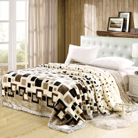 毛毯加厚双层学生宿舍单人双人春秋冬季盖毯婚庆绒毯子被子