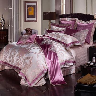 家纺欧式床上四件套床单床盖式被套双人床上用品全棉公主风样板房
