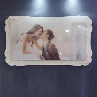 影楼韩式婚纱照放大结婚照双层大韩水晶烤瓷相框挂墙三四组合制作生活日用居家创意新品 50寸大框 121x70厘米 套系