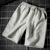 短裤男青年夏天韩版潮运动修身夏季格子沙滩裤五分休闲薄款男裤子