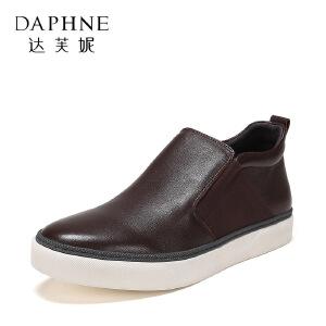 达芙妮集团/鞋柜春秋时尚休闲系带商务男鞋皮鞋1117414303-