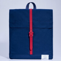 苹果双肩电脑背包 pro13.3/14寸戴尔华硕笔记本女书包 蓝色 13寸