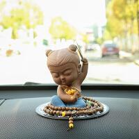 哪吒三太子陶瓷创意汽车摆件饰品车载摆件车内装饰品可爱个性公仔