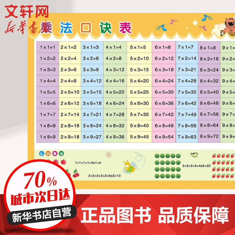 儿童学习用表乘法口诀表 王伟文 编 【文轩正版图书】