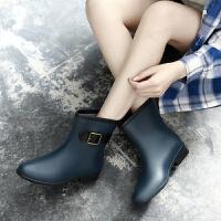 时尚雨鞋女雨靴成人防水套鞋韩国低帮胶鞋防滑水鞋中筒