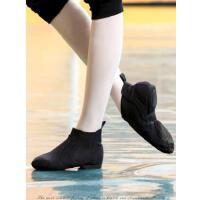 爵士舞鞋女高帮帆布舞蹈鞋软底成人男女练功鞋爵士靴