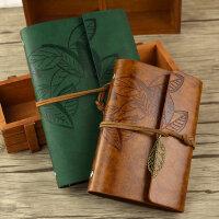 古风绑带旅行日记本活页欧式复古手绘笔记本空白牛皮纸随身小本子