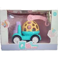 儿童玩具 软胶摇铃小汽车玩具宝宝儿童益智早教礼盒装生日礼物 婴儿软胶车