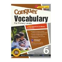 【首页抢券300-100】SAP Conquer Vocabulary 6 六年级英语词汇练习册 攻克词汇系列难度提高版
