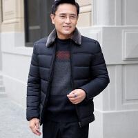 新款爸爸冬季棉袄中年男士40-50岁冬装厚款棉衣保暖外套